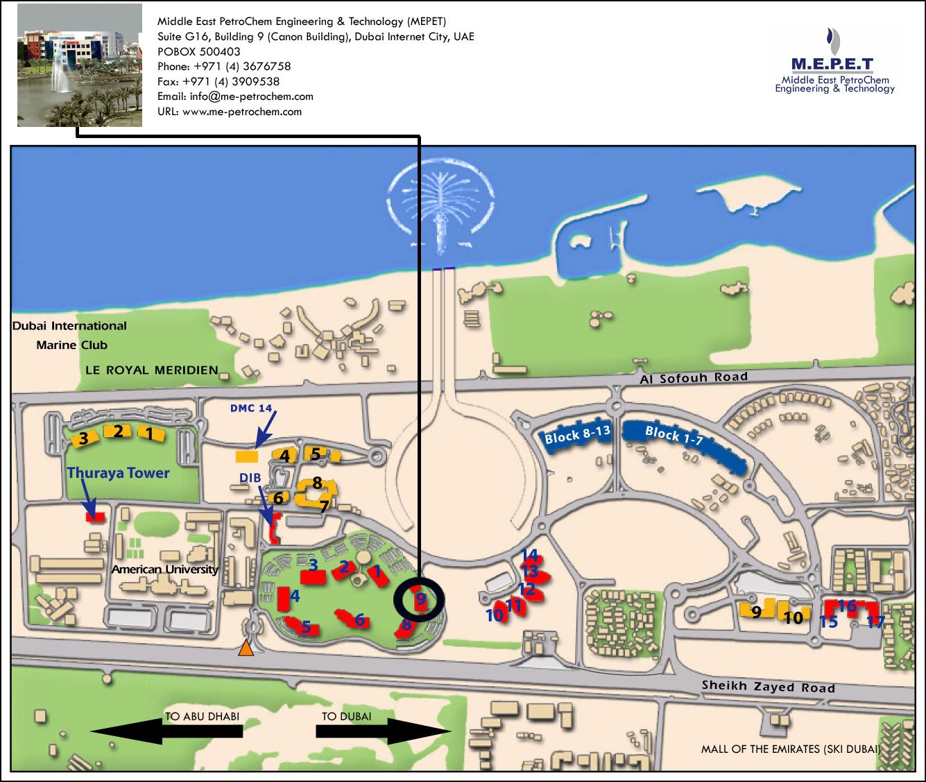 MEPET Location Map